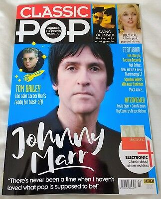 CLASSIC POP Magazine JOHNNY MARR July 2018 Issue #42 Blondie Factory Records