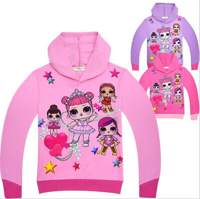 Kids Girls LOL Surprise Doll Hoodies Casual Cartoon SweatShirt Tops Clothes
