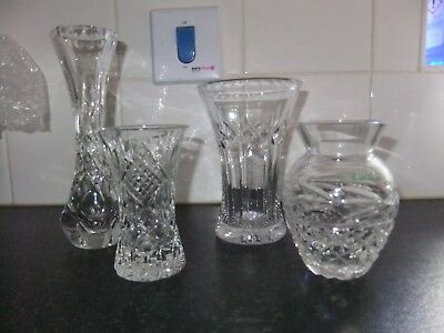 Mixed Lot of Crystal Posy Vases, Tudor, Galway & Tyrone plus 1 unmarked piece.