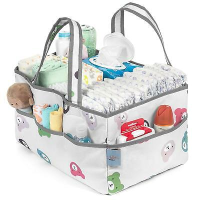 Portable Diaper Storage Organizer With Removable Compartments Diaper Wipes Toys