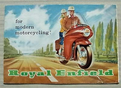 ROYAL ENFIELD MOTORCYCLES Sales Brochure 1960 CLIPPER Prince SUPER METEOR ++