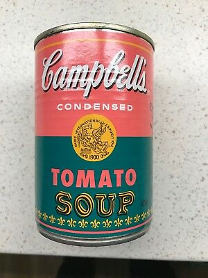 Andy Warhol Campbells Tomato Soup Can Sealed and Still Contains Soup