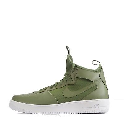100% authentic f0990 ad58b NIKE AIR FORCE 1 Ultraforce Mid Men's Ankle Style Trainers Palm Green