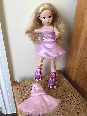 """Zapf Creation Jolina Ballerina roller skating 13"""" Doll Dressed With Roller boots"""
