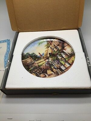 Wedgwood Plate  COUNTRY DAYS  Buying the Bread collectors 1992