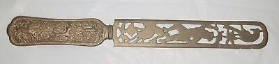 Beautiful Antique Japanese Meiji Bronze Page Turner