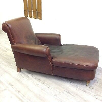 Stunning! Vintage Italian Leather Daybed Club Chair by Baxter Giuseppe Manzoni