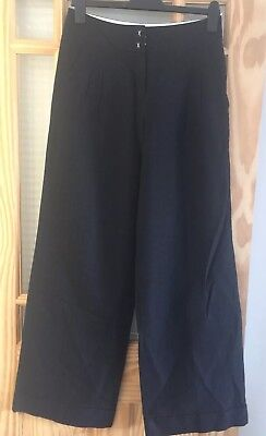Toast Womens Navy Wide Leg Trousers Size 10