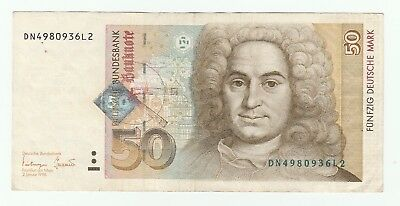 Germany 50 Deutsche Mark dated 2nd January 1996