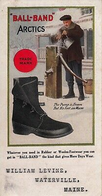 "1940s ""Ball-Band"" Arctic boots blotter, William Levine, Waterville, Maine"