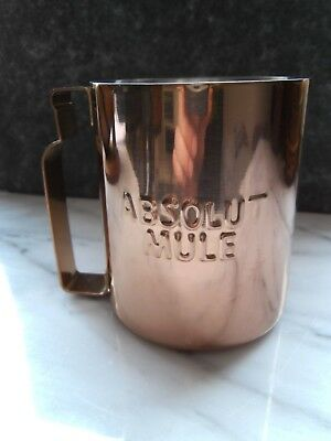 3D Absolut Mule Kupfer Becher Mug Moscow Vodka Wodka Gin Tonic Cocktail NEU&OVP