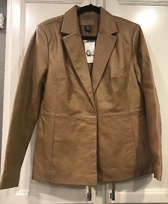 Luciano Dante NWT Women's Soft Leather Tan Jacket Large