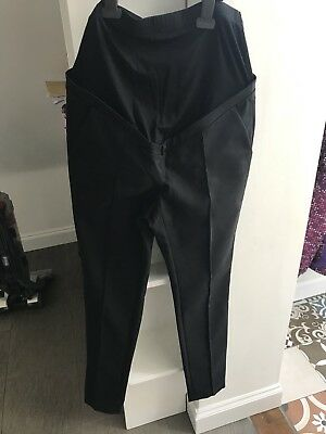 Seraphine over the bump maternity trousers black size 10 BNWT