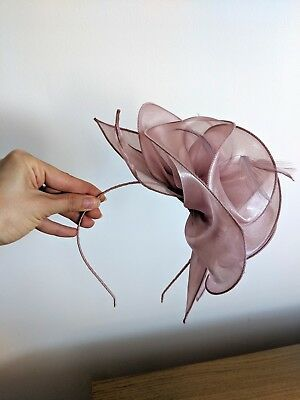 Dust pink fascinator for Ascot or wedding