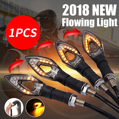 Flowing Indicator Light LED Motorcycle Black Replacement Refit Super Bright