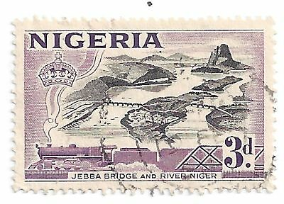 NIGERIA 1953 Jebba Bridge Over Niger1 3D Scott #84