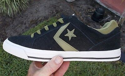 16fb14684f8c CONVERSE LOW TOP GATES OX BLACK   OLIVE 136752C SIZE 11 NEW IN BOX ...