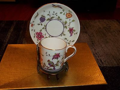 Vintage Crown Staffordshire Fine China  DEMITASSE CUP & SAUCER NUMBERED