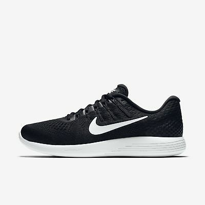 a2eab9243d50d Nike Lunarglide 8 AA8676-001 Black White Men s Stability Running Shoes NEW!