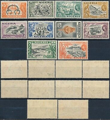 Nigeria 1953, Qeii Definitives, Um/nh 10 Diff. Values Of The Set, See..  #d1356
