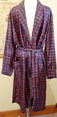 Vintage St Michael Paisley/Tootal style Tricel Robe/Dressing Gown 1960's/70's M