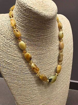 Natural Genuine Baltic Amber Polished Bead ladies Jewelry Necklace 21 gr.  #553