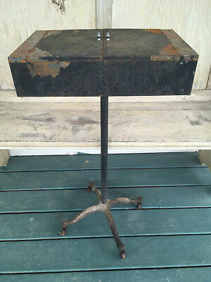 Antique M. Brandt & Sons Surgeon Doctor Cast Iron Removable Cabinet Tray Stand