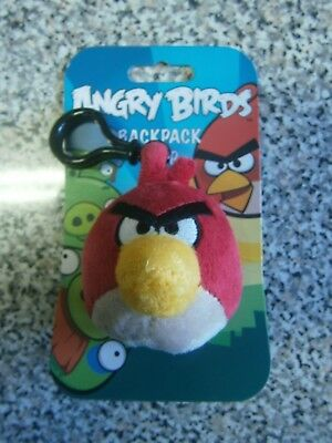 Official Angry Birds - RED BIRD Backpack Clip Soft Plush Toy -  NEW