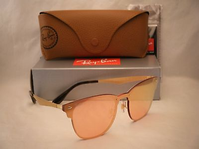 3e54d3a0b RAY BAN BLAZE CLUBMASTER (RB3576N-043/E4 41) Brushed Gold with Pink ...