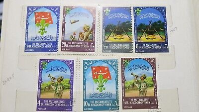 1967 Yemen Scouts Jamboree Set of 7 Stamps MH