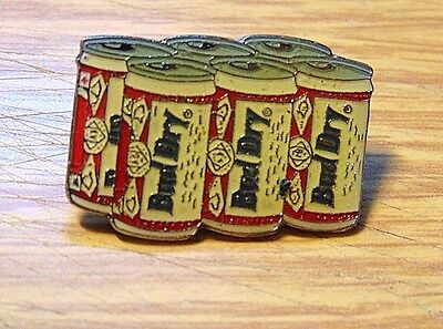 BUD DRY ~ Six Pack Pinback ~ Pin Budweiser Discontinued Beer Brand
