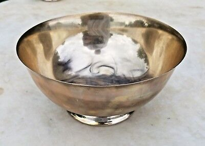 """Estate Reed & Barton Paul Revere Repro X406 Sterling Silver Footed Bowl-6.5"""""""