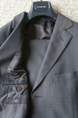 *Luxury* Z Zegna Brown Natural Comfort Side Vent Wool Suit Eu 52 US 42 R $1495