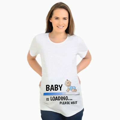 Baby Loading Maternity T Shirts Tee T-Shirt Mom Funny Maternity Pregnant Clothes