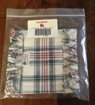 Longaberger Handle Gripper #219032 Market Plaid Fabric New in Package