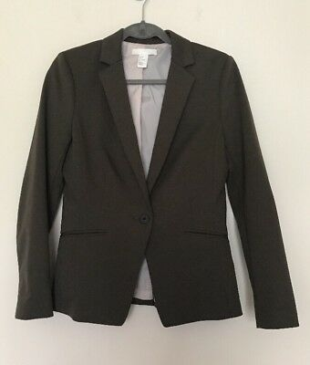H&M One Button Jacket Blazer - Olive Green - 8