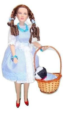 """Tonner Dorothy Gale 15"""" Doll Basket Toto Wizard of Oz OOAK Outfit Ruby Slippers"""