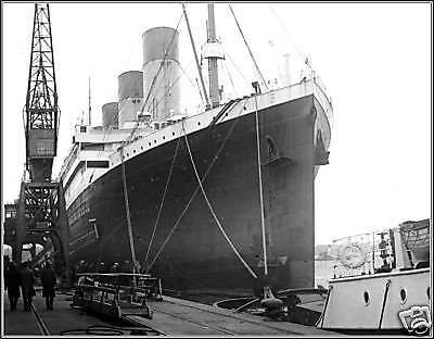 Photo: The RMS Olympic At Southampton's Ocean Dock 1929