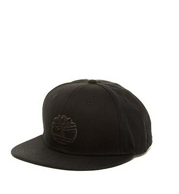 2ff94f2eac2 100% Canvas Cotton Timberland Mens Embroidered Logo Snap Back Baseball Cap~ Black