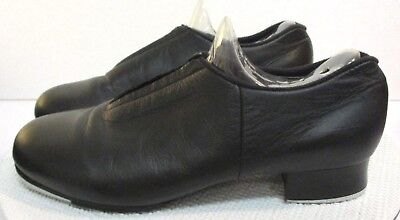 Bloch Shockwave Size 7 M Black Leather Womens Girls Youth Slip On Tap Shoes
