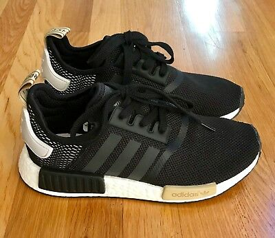 best cheap 503d1 ed543 NIB NEW Adidas NMD R1 Womens BA7751 Black Size 7 12 Size 7.5 NMDR1