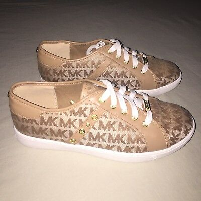 Girls Michael Kors Wilamena Signature Print Tennis Shoes Size 5 Y Youth New