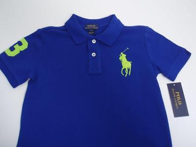 NEW ~ Boys Size 6 ~ Big Pony Polo By Ralph Lauren ~ Pure Sapphire Blue
