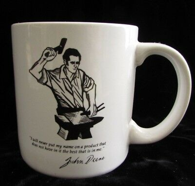 John Deere Quote 1989 Coffee Mug Go With The Green Service Cup