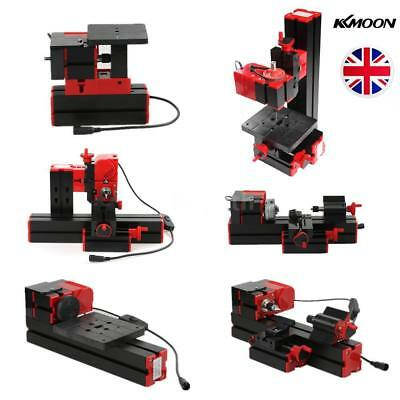 6in1 Mini Wood Metal Motorized Lathe Machine Woodworking Hobby DIY Tool Set Q5O3