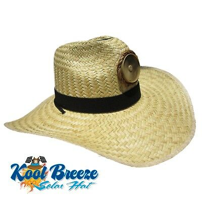 fab0bbc61a12b Kool Breeze Gentlemen s Natural Solar Straw Hat w Band Solar Cooling Hat