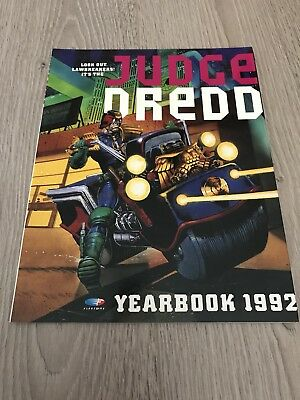 Judge Dredd YEARBOOK 1992 Illustrated Paperback Publisher Fleetway