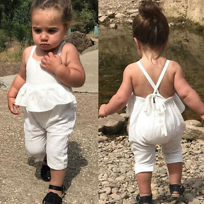 Baby Girl KidsNewborn Infant Backless Romper Jumpsuit Playsuit Bodysuit Outfit