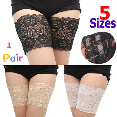 Women Ladies Non-Slip Lace Elastic Sock Anti-Chafing Prevent Thigh Chafing Socks