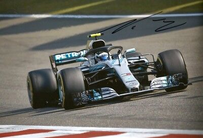 F1 Valtteri Bottas MERCEDES AMG PETRONAS 2018 autograph, In-Person signed photo